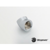 Bitspower Silver Shining 45-Degree With Dual Inner G1/4 Extender /BP-45DIG14/
