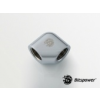 Bitspower Silver Shining 90-Degree With Dual Inner G1/4 Extender /BP-90DIG14/