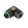 Bitspower Winkel Csatlakozó G1/4, 10/8 mm - matt fekete, forgatható