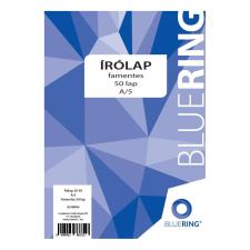 BLUERING Írólap 20-50 A5 famentes 50 lap BLUERING írólap