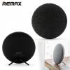 Bluetooth hordozható hangszóró, 2 x 3.5 W, BT v4.1, textil borítás, Remax M9, fekete