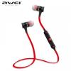 Bluetooth sztereó headset, nyakba akasztható, multipoint, AWEI, fekete/piros