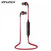Bluetooth sztereó headset, nyakba akasztható, multipoint, AWEI, piros