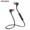 Bluetooth sztereó headset, nyakba akasztható, multipoint, AWEI, szürke/kék