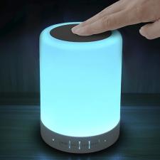 Bluetoothos LED éjjeli lámpa, hangszóróval világítás