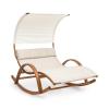 Blumfeldt Mauritius, hintaágy, napellenzővel, ComfortMesh, 180 kg max., vízálló, krémszínű