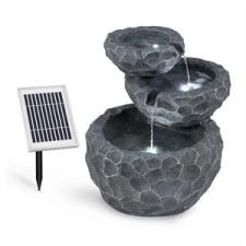 Blumfeldt Murach napelemes vízesés szökőkút, akkumulátor, 2 kW szolár panel, 3 LED kerti dekoráció