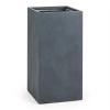 Blumfeldt Solidflor, antracit, virágcserép, virág konténer, 40x80x40 cm, fiberton