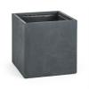 Blumfeldt Solidflor, antracit, virágcserép, virág konténer, 50x50x50 cm, fiberton