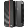 BMW Carbon Book case iPhone X - fekete