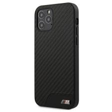 """BMW Etui BMW BMHCP12LCABBK iPhone 12 6,7"""" Pro Max fekete kemény tok M Collection PU Carbon telefontok tok és táska"""