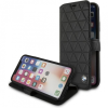 BMW Hexagon Book bőr tok iPhone X - fekete