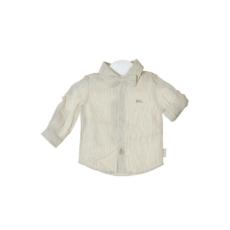 boboli szürke, fehér csíkos, lenvászon fiú ing – 62