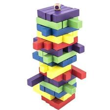 Bonaparte Játék fa torony 60 db színes puzzle társasjáték társasjáték