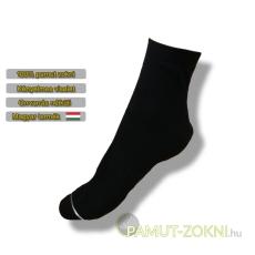 Bordás boka zokni - fekete 35-36