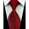 Bordó selyemnyakkendő mandzsettagombbal és díszzsebkendővel