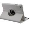 Bőrtok, Apple iPad Mini mappa tok, elforgatható (360°) fehér