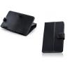 Bőrtok, Huawei Mediapad  / Archos / Overmax / DPS, univerzális 7 coll, mappa tok, fekete