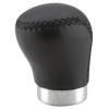 Bottari Sebességváltó gomb fekete varrot bőrből (felhúzhatóhoz) 17430