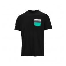 Branded Mercedes AMG Petronas férfi póló Pocket black F1 Team - S