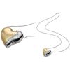 Breil - HEARTBREAKER nemesacél nyakék  aranyszín betéttel - nagy medállal