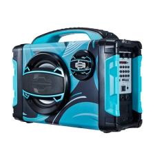 Brigmton Bluetooth Hordozható Hangszóró BRIGMTON BBOX-2 FM LED 25W Kék hangszóró