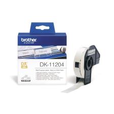 Brother DK-11204 400db/tekercs 17mm x 54mm elővágott fehér öntapadós címke nyomtató kellék