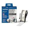 Brother Etikett címke DK22214, Fehér alapon fekete papírszalag tekercsben 12mm, 12mm x 30.48M (DK22214)