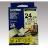 Brother Feliratozógép szalag, 24 mm x 8 m, BROTHER, fehér-fekete