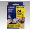 Brother Feliratozógép szalag, 24 mm x 8 m, BROTHER, sárga-fekete