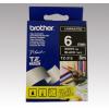 Brother Feliratozógép szalag, 6 mm x 8 m, BROTHER, fekete-fehér