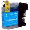 Brother LC225XL C cyan festékpatron - utángyártott chipes PQ 15ml J4120DW J4420DW J4620DW J5320DW J5620DW