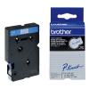 Brother TC-203, 12mm x 7,7m, kék nyomtatás / fehér alapon, eredeti szalag