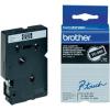 Brother TC-395, 9mm x 7,7m, fehér nyomtatás / fekete alapon, eredeti szalag