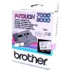 Brother TX-141, 18mm x 8m, fekete nyomtatás / átlátszó alapon, eredeti szalag