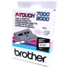 Brother TX-221, 9mm x 8m, fekete nyomtatás / fehér alapon, eredeti szalag