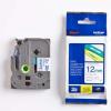 Brother TZ-233 / TZe-233, 12mm x 8m, kék nyomtatás / fehér alapon, eredeti szalag