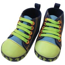BUBABA babacipő, fűzős 9-12 hó - Kék/zöld gyerek cipő