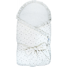 BUBABA pólya - Bézs-szürke szivecskék pólya
