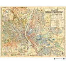 Budapest Székesfőváros Térképe (íves falitérkép) - HM térkép