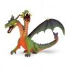 Bullyland 75596 Kétfejű sárkány, zöld