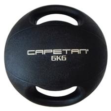 Capetan® 6Kg Professional Line Dual Grip kétfogantyús gumi medicinlabda (vízen úszó) - 6Kg Cross Tra medicinlabda