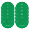 Capital Sports Nipton Bumper Plates, zöld, 5 pár, 10 kg, keménygumi