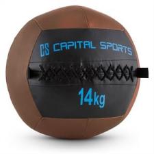 Capital Sports Wallba 14, 14kg, barna, Wall Ball (medicinlabda) műbőr medicinlabda