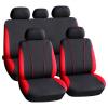 CARGUARD Autós üléshuzat szett - piros / fekete - 9 db-os - HSA002 (Autós üléshuzat szett)