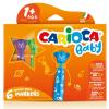 Carioca : Színes macis bébi filctoll 6db-os szett kimosható