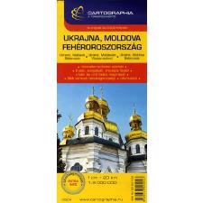Cartographia Kft. UKRAJNA, MOLDOVA, FEHÉROROSZORSZÁG AUTÓSTÉRKÉP 1 : 2000000 térkép