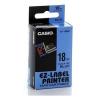 Casio XR-18BU1, 18mm x 8m, fekete nyomtatás / kék alapon, eredeti szalag