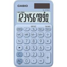 """Casio Zsebszámológép, 10 számjegy, CASIO """"SL 310"""", világoskék számológép"""