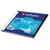 CD-R lemez, 700MB, 52x, vékony tok, VERBATIM DataLife